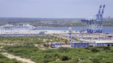The controversial Hambantota Port in Sri Lanka.