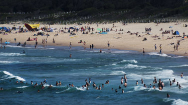 Maroubra beach was quickly evacuated after a four-metre shark was spotted 150 metres off the coast.