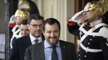 Matteo Salvini, leader of the anti-immigrant Lega, is now a key player in Italy's government.