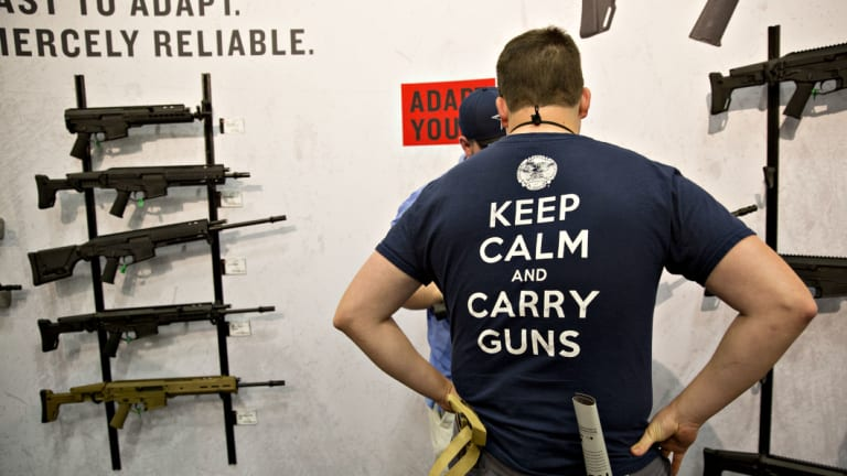 Gun stocks are one of a dozen supposed political proxies on the sharemarket.