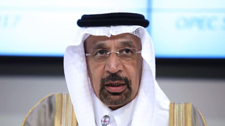 Khalid Bin Abdulaziz Al-Falih, Saudi Arabia's energy minister.