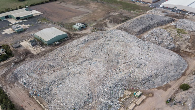 A fire-prone recycling stockpile in Lara was the subject of a recent VCAT ruling.