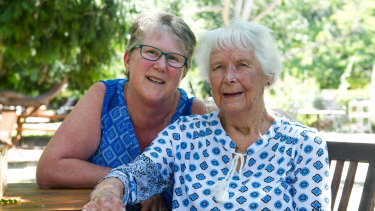 Gwen Lawless, with her daughter Karen, is one of Canberra's pioneering residents.