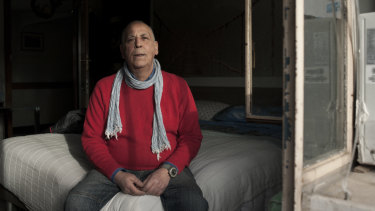 Maurizio Zanga is among the 30 to 40 per cent of squatters in Rome who are Italian.