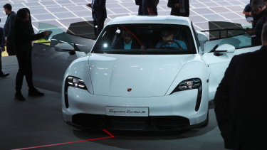 Porsche Taycan launches as company's first electric car