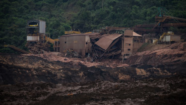 The scene of the Vale SA dam burst in Brumadinho, Brazil.