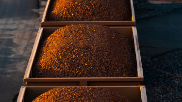 The sharemarket was buoyed late in the day by a higher iron ore price.
