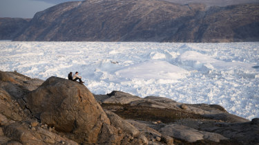 Greenland's Helheim glacier. Global warming is reshaping the politics around the semi-autonomous island.