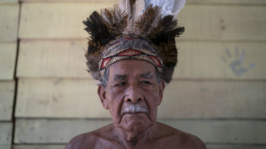 Gervasio de Sousa, a Pataxo Ha-ha-hae indigenous man, whose community is heavily impacted by disaster on the Paraopeba River.