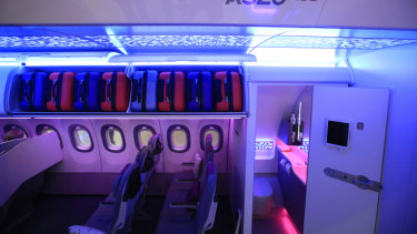The technology aims to give flight attendants a more detailed survey of the cabin, with sensors for such critical data as when bathroom soap is running low and how much toilet paper remains in each bathroom.
