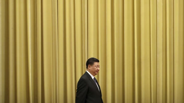 Chinese President Xi Jinping arrives for an event to commemorate the 40th anniversary of the Message to Compatriots in Taiwan.