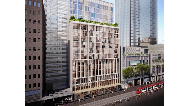 Artist render of 312-318 George Street, Sydney, bought by Justin Hemmes.