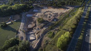 The new Narrabundah wetlands site.