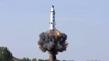 A North Korean missile test.