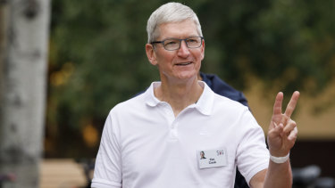 All good? Apple boss Tim Cook has sounded optimistic that the trade war won't hit the iPhone maker.