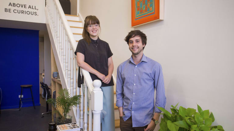 Hassl co-founders Lauren Crystal and Mitch Furlong.
