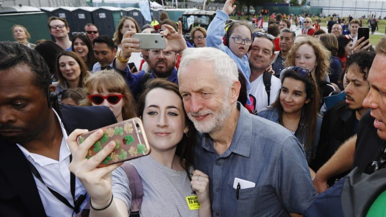 Jeremy Corbyn, leader of Britain's opposition Labour Party, at the 'Labour Live' festival in London in June.