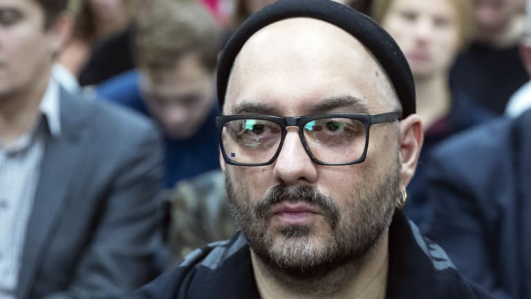 Russian theatre and film director Kirill Serebrennikov waits for the start of his court hearing in Moscow.