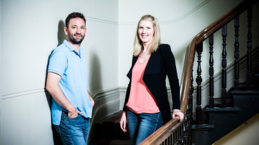 Andrew Petris and Charlotte Petris moved to Melbourne for family but have found it a great place to build their startup Timelio.