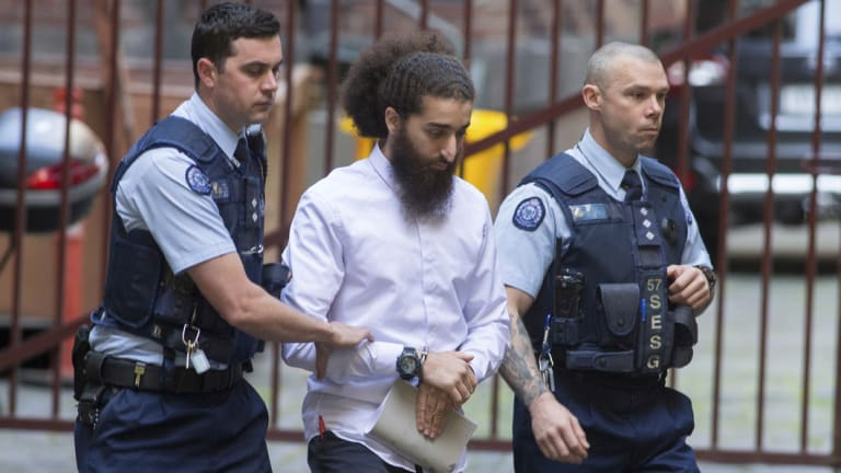 Abdullah Chaarani arriving at the Supreme Court, Melbourne.