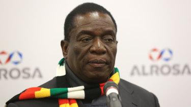 Zimbabwe's President Emmerson Mnangagwa.
