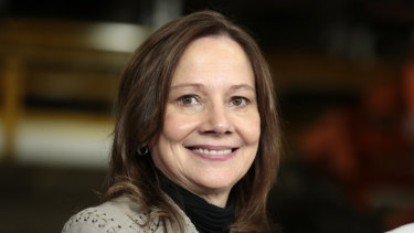 Paving the way: GM chief Mary Barra.