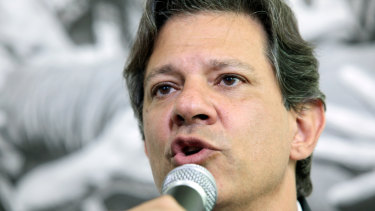 Fernando Haddad, presidential candidate for the Workers' Party.