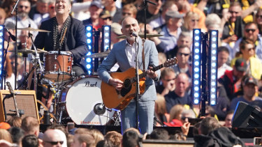 On song: Paul Kelly brings poetry and passion to this year's grand final entertainment.