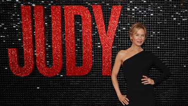 Renee Zellweger at the Australian premiere of Judy in Melbourne on Tuesday.