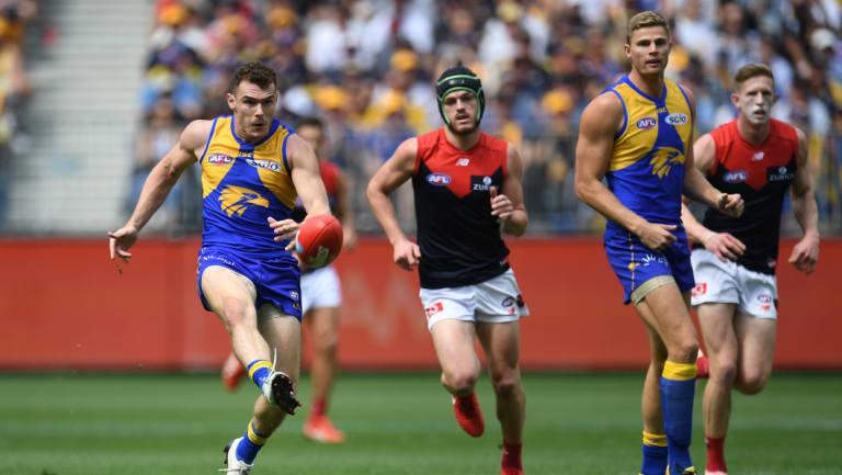 Luke Shuey suffered an ankle sprain in Saturday's big win over Melbourne.