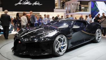 The Bugatti sold for $17.5 million.