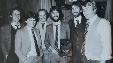 Hounds at The Round:  Paul Chadwick, Dan McDonnell, John Silvester, Geoff Wilkinson, Peter William Robinson, ''Big'' Jim Tennison.