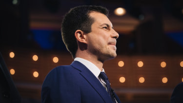 Pete Buttigieg appeared next to heavy hitters on the second night of the first Democratic primary debates.
