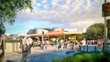 The original concept images for the new Metro Cultural Centre station at South Brisbane, as part of the council's Brisbane Metro plans.