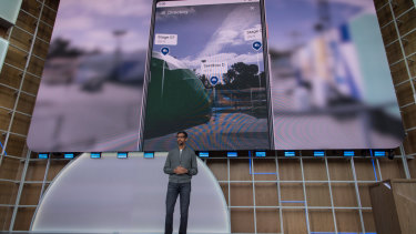 Google chief Sundar Pichai talks about the phone's new features.