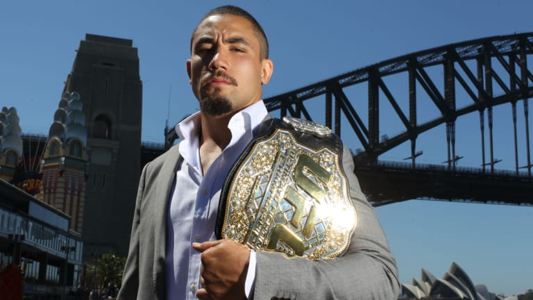 Back in the octagon: Robert Whittaker will fight on Sunday (AEST).
