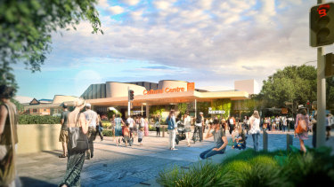 Concept images for the new Metro Cultural Centre station at South Brisbane, as part of the council's Brisbane Metro plans.