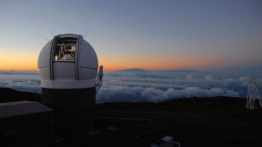 """The Pan-STARRS1 Observatory on Haleakala, Maui, Hawaii discovered """"Oumuamua""""."""
