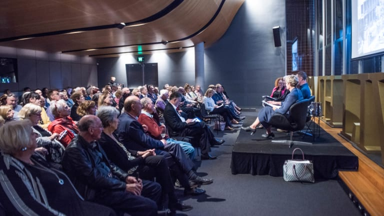 The audience was captivated with Penelope Seidler's memories.