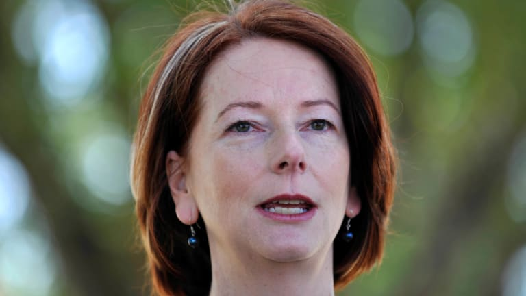 """""""While we cannot fully erase the pain of the past, we can help to ease its burden"""": Former prime minister Julia Gillard."""