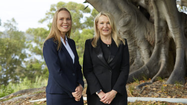 Fortescue's Julie Shuttleworth (left), with Fortescue CEO Elizabeth Gaines.