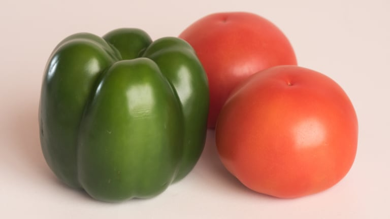 "Capsicums and tomatoes are considered to be ""nightshade"" vegetables."
