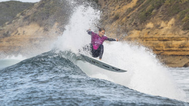 Stephanie Gilmore has won at Bells for the first time since 2010.