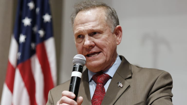 Republican Roy Moore during last year's controversy-plagued Senate run.