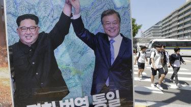 South Korean President Moon Jae-in met with Kim Jong-un weeks ago.