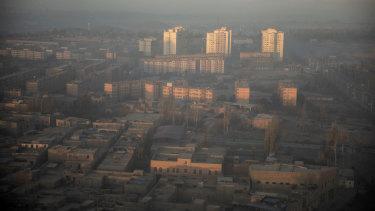The Xinjiang autonomous region in western China.