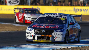 Jamie Whincup is back to winning form in Ipswich.
