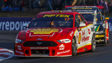 Follow the leader: McLaughlin wins race 1 of the Truck Assist Winton SuperSprint Event 6 of the Virgin Australia Supercars Championship in Winton.
