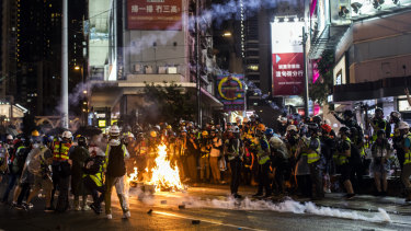 The protests in Hong Kong aren't a good backdrop to a $57 billion bid for the London Stock Exchange.