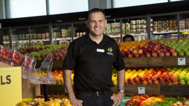 Justin Nolan, general manager of Woolworths Metro, at the Rozelle store in Sydney.